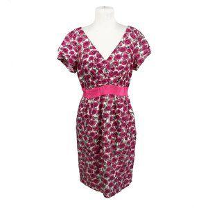 Boden US 10 Eu 14 Wool Silk Dress Floral Print